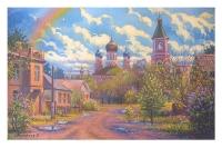 Вид на Дмитриевскую церковь