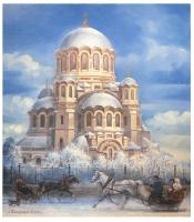 Казанский собор в рождественский день