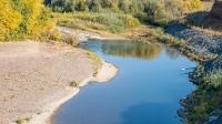 Обрыв берега реки Сакмара у села Жёлтое