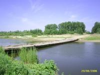 Понтонный мост через Илек у села Покровка